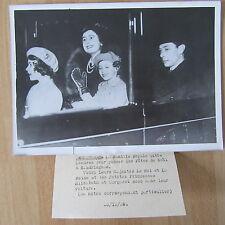PHOTO DE PRESSE ANGLETERRE 1938 FAMILLE ROYALE  DÉPART POUR LES FÊTES DE NOEL