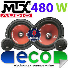 """Saab 93 2003 - 2014 MTX 6.5"""" 480 Watts Component Kit Front Door Car Speakers"""