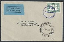 South West Africa 1931 Airmailcover Keetmanshoop to Windhoek