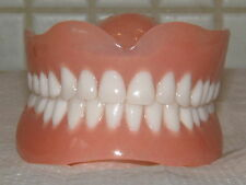 FULL UPPER&LOWER DENTURES/FALSE TEETH,ULTRA WHITE,BRAND NEW FOR ,GIFTS&JOKES
