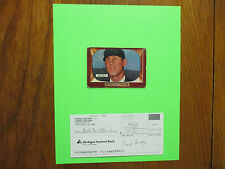 FRANK  SECORY (Died in 1995) Umpire/Player  Signed  Deposit Slip  w/8X10 Display