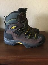 TECNICA TREKKING Brown Black Leather Hiking Trail Boots Size 8.5 40 2/3 Womens