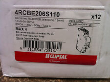 12 x Clipsal 4RCBE206S110 Combined RCD / MCB 1p+N-6A-30mA