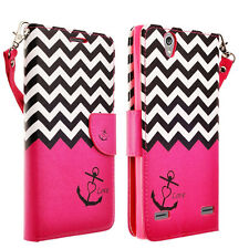 For HTC Desire 530 / Desire 630 Hybrid PU Leather Wallet Pouch Case Flip Cover