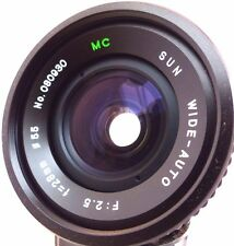 Pentax M42 Screw Fit Sun MC 28mm F2.5 Wide Angle Lens.