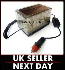 12V LED FLASHING BEACON LIGHTBAR LIGHTS TRUCK VAN CAR AMBER MAGNETIC COMPACT UK