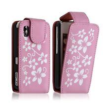 Housse coque etui pour Samsung Player One S5230 motif fleurs couleur rose + film