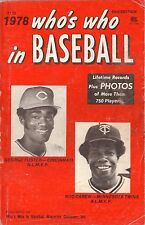 1978 Who's Who in Baseball Guide--George Foster/Rod Carew--Reds/Twins