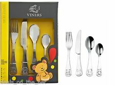 Viners Childrens Bertie Bear 4-Piece Cutlery Set, Gift Box Viners Kid collection