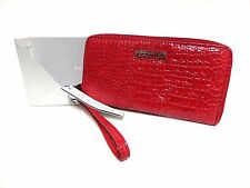 NWT Kenneth Cole Reaction Wristlet Wallet Garnet Red W/Zip Around Wallet