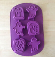 6-Ghost Halloween Cake Mold Flexible Silicone Mold Cookie Mold Chocolate Mould