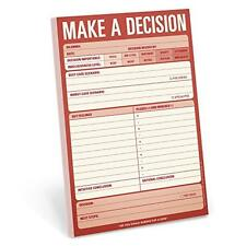 Knock Knock Make a Decision Pad, New, Free Shipping