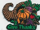 Boy Girl Cub GIVE THANKS Fun Patches SCOUTS/HOMESCHOOL