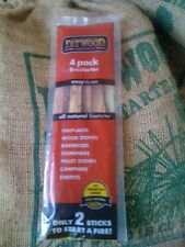 (5) Fatwood Fireplace Barbecue Wood Stove Camp 4 Sticks Fire Starter Bag