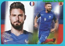 P18 OLIVIER GIROUD POSTER EQUIPE TEAM FRANCE STICKER FOOT 2017 PANINI