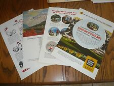 Western Pacific Canadian National Western Star Budd print ads - 4 total