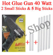 Hot Melt Glue Gun 40 W + 2 Pcs Small & 5 pcs BIG Glue Sticks Free