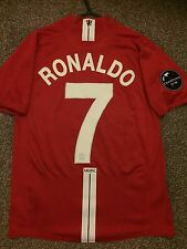 MANCHESTER UNITED 2008/09 CHAMPION LEAGUE HOME SHIRT ADULTS(S) 7 RONALDO