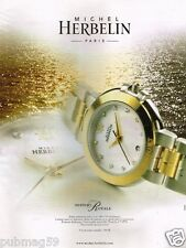 Publicité advertising 2002 La Montre Michel Herbelin Newport Royale