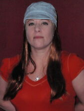 """Hats With Hair Attached NEW For Adults Kids Fun Wig AND Hat  Chemo  """"Cool Blue"""""""
