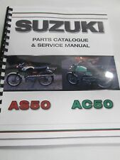 Suzuki AS50 AC50   parts& service combo  manual   1968-1971