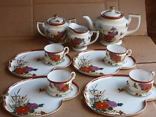 Vintage 11 Piece Hakusan China Coffee / Tea Set Serve 4 People Made in Japan