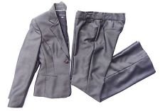 ANNE KLEIN Pant Suit Blazer and Pants Gray Silver Women's Size 2 EUC!