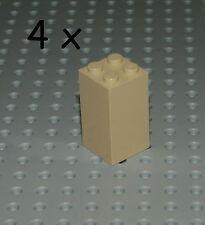 LEGO 4x Basic Säule Stein 30145 2x2x4 Tan beige Sand Basis Brick Star Wars 30145