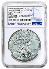 2016-W Burnished American Silver Eagle NGC MS70 Early Releases PRESALE SKU44302