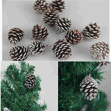 Natural 1 Pack of 9 Pine Cones Baubles Xmas Tree Decorations