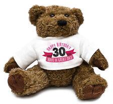 30th Birthday Teddy Bear Gift Idea Present Special Daughter Girl Cute Family #32