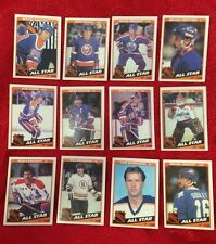 1984 Topps CARD SET lot of 12 NHL ALL STARS NM/MT GRETZKY BOSSY BOURQUE MESSIER