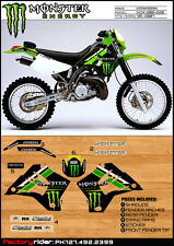 KAWASAKI KDX 200 KDX 220 GRAPHICS  FIT 1995-2005 SUPER NICE TEAM ISSUE KIT