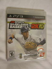 Major League Baseball 2K10 PS3 (PlayStation 3) Brand New, Sealed~