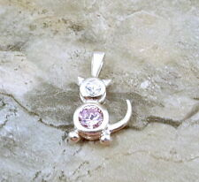 Sterling Silver October Birthstone CAT Charm with Bail  - 0910