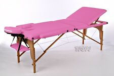 PINK Portable massage Table Beauty Therapy Salon Bed Couch & Lightweight Carry B