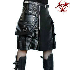TRIPP VEGI LEATHER VINYL PVC FETISH GLADIATOR BONDAGE PANTS KILT SKIRT XS 28