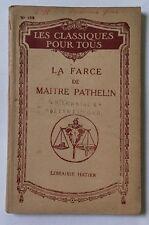 Les Classiques Pour Tous La Farce De Maitre Pathelin Librairie Hatier Ref101