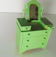 1920 DOLLHOUSE ROOM BOX WOOD FURNITURE VTG BOHO MINIATURE DIORAMA SZ HOME DECOR