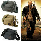 Vintage Men\'s Canvas Messenger Shoulder Bag Military Crossbody Bags Satchel