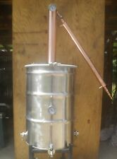 "55 Gallon Moonshine Whiskey Still, 4"" Diameter Copper Column, Copper Condenser"