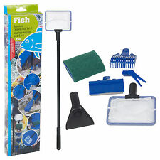 Aquarium 5 in 1 Cleaning Tool Kit Sets Fish Tank Maintenance Algae Cleaner Brush