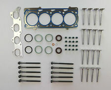 HEAD GASKET SET BOLTS 16 VALVES BEETLE BORA GOLF LUPO POLO CADDY 1.4 16V 97 on