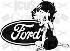 Betty Boop girls girly vinyl car sticker wall art fun decal retro graphics funny