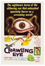 Horror: * The Crawling Eye * Forrest Tucker USA Movie Poster 1958