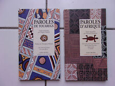 lot Carnets de sagesse : Paroles d'Afrique + Paroles de Touaregs TBE