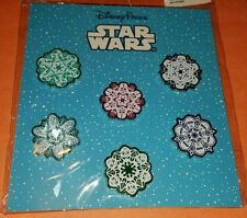 Disney Pins Star Wars Snowflake 6 Pin Booster Set Sealed FREE SHIPPING