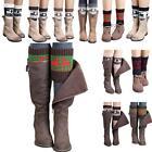 Women Winter Knitted Leg Warmers Christmas Deer Print Short Boot Cover Socks