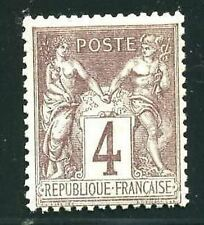 """FRANCE STAMP TIMBRE N° 88  """" TYPE SAGE 4 c LILAS-BRUN  """" NEUF XX TB"""