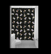 SOURPUSS MONSTER KEWPIE GANG SHOWER CURTAIN. VAMPIRE. FRANKENSTEIN. WEREWOLF.